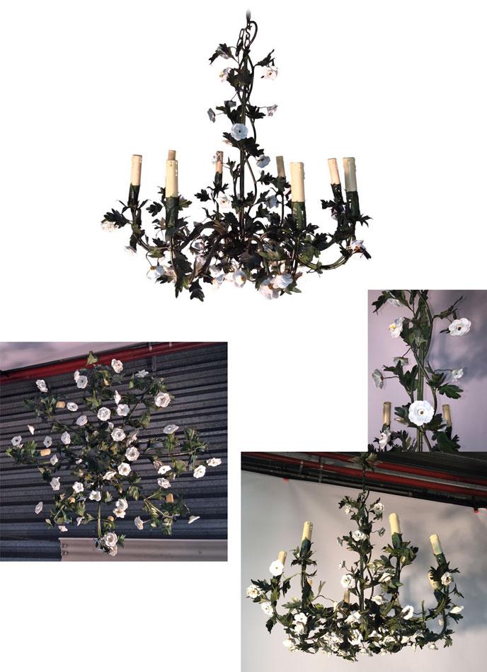 ins 893 lustre n o romantique en fer forg vert. Black Bedroom Furniture Sets. Home Design Ideas