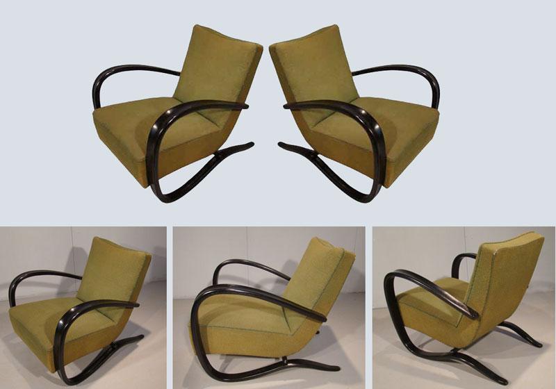 ad 302 fauteuils halabala. Black Bedroom Furniture Sets. Home Design Ideas
