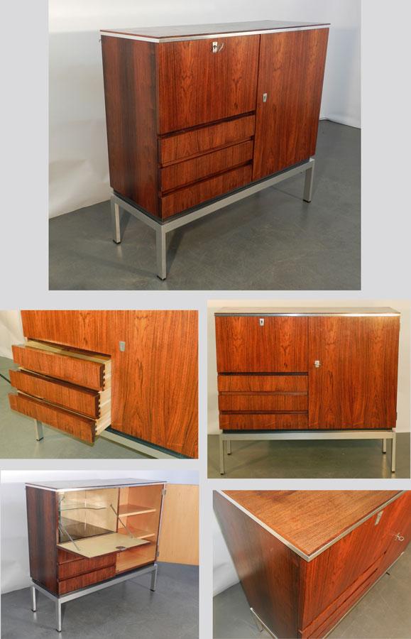 Mod 387 meuble de rangement 1970 en placage de palissandre for Meuble 1970
