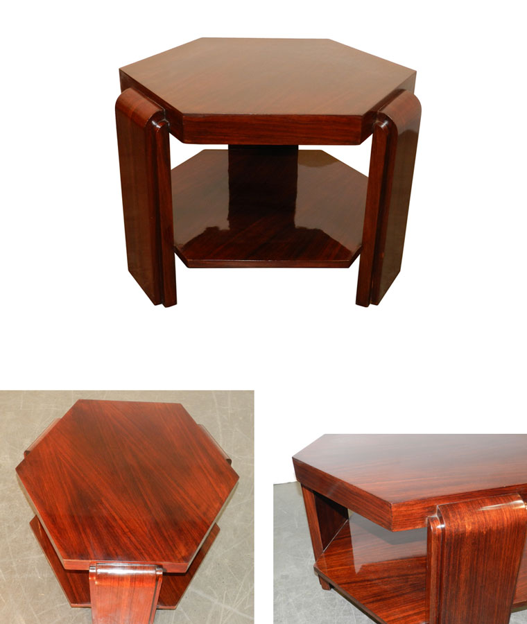 ad 8313 gueridon epoque art deco en placage de palissandre. Black Bedroom Furniture Sets. Home Design Ideas