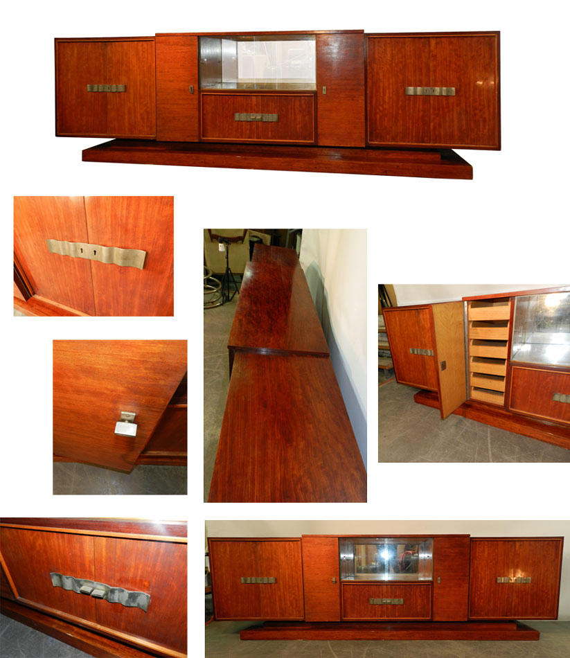 ad 856 decoene freres enfilade epoque art deco en placage d 39 acajou. Black Bedroom Furniture Sets. Home Design Ideas