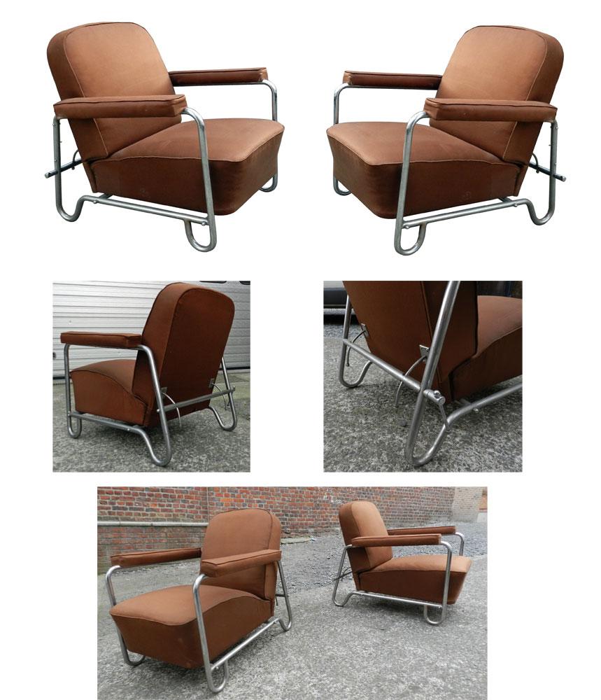 ad 887 paire de fauteuils modernistes epoque art deco vers 1920 1930. Black Bedroom Furniture Sets. Home Design Ideas