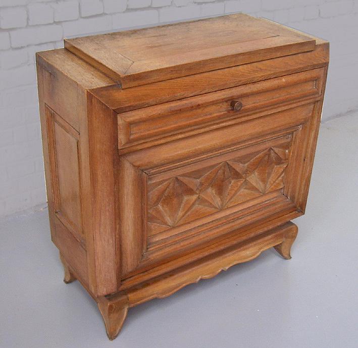 Ad 0028 travail francais 1940 meuble bar for Meuble une porte et un tiroir